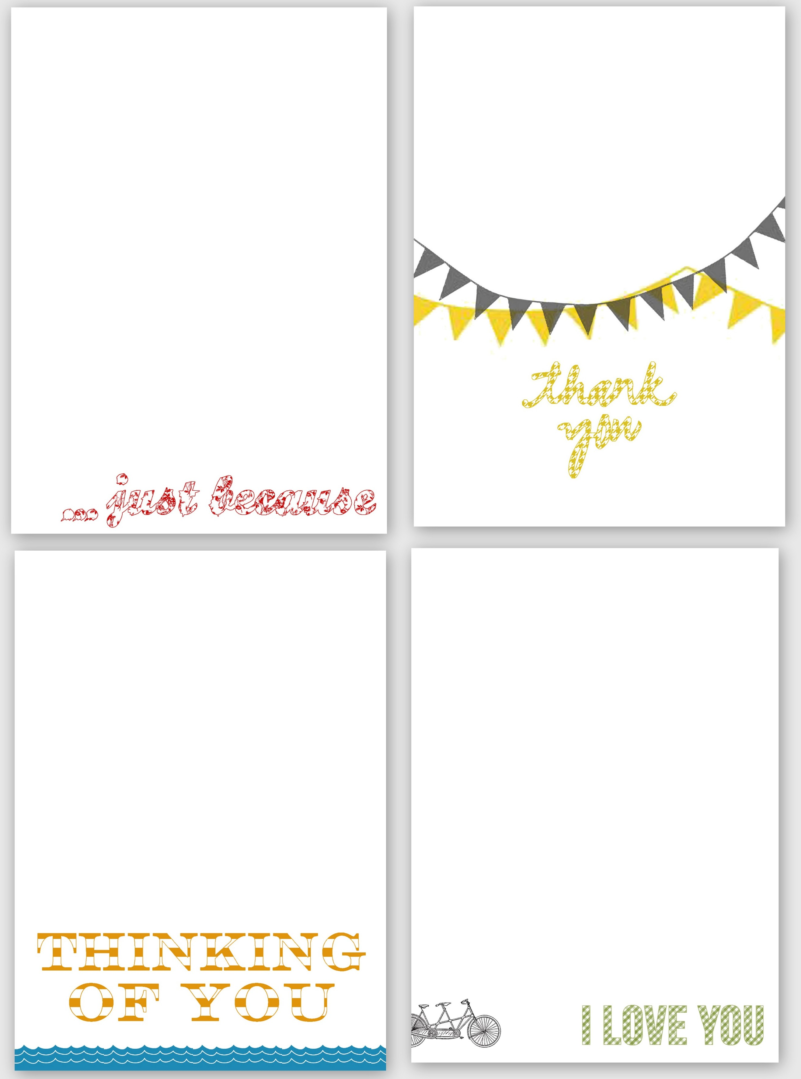 graphic about Free Printable Cards for All Occasions called a no cost printable or 2 for by yourself! Bungalow