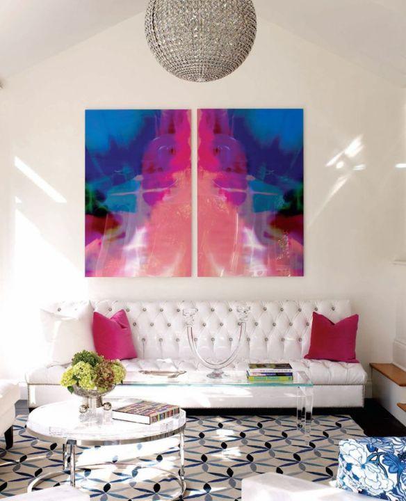 art over sofa