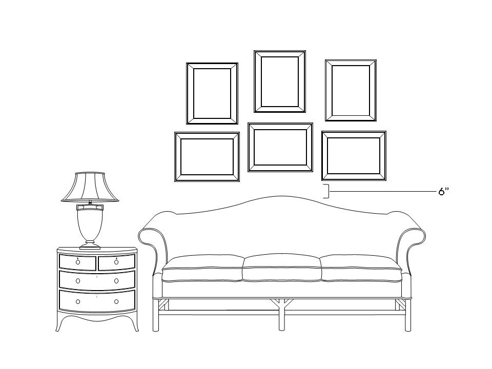 Quick tips how high to hang pictures part 2 bungalow for Sofa table higher than sofa